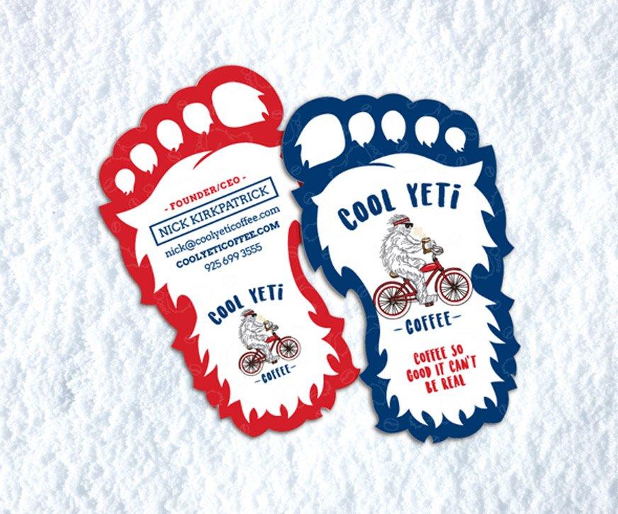 Cool Yeti Coffee Business Card