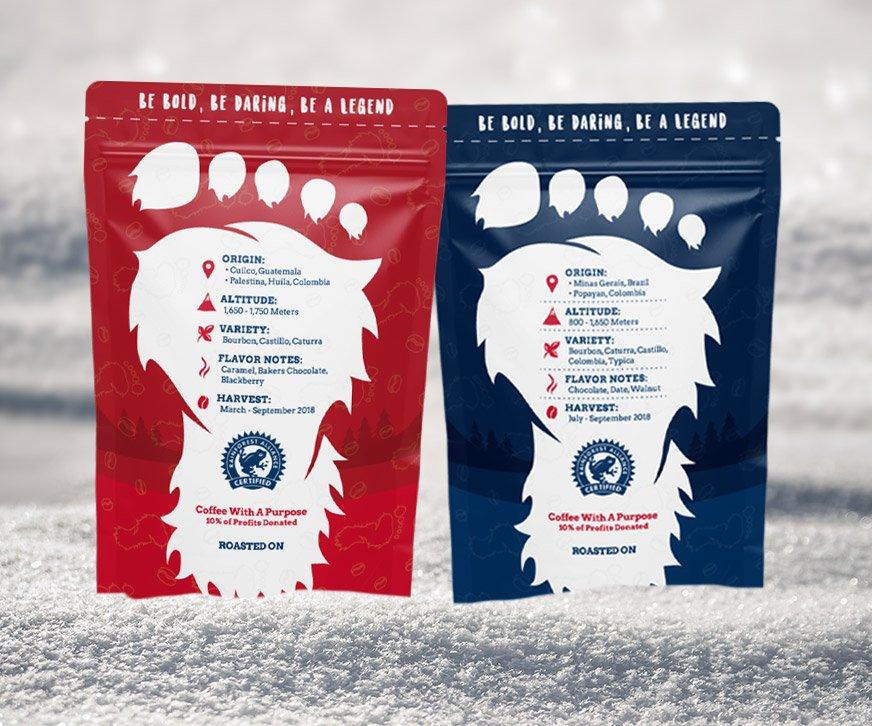 Cool Yeti Coffee Packagings Back