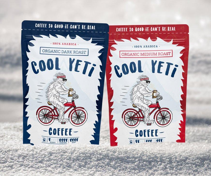 Cool Yeti Coffee Packagings